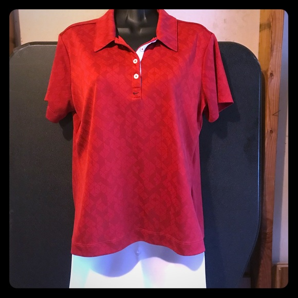 Nike Golf Polo Shirt Size Large (12-14) Red